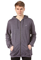 CLEPTOMANICX Ligull 3000 Hooded Zip Sweat heather dark navy