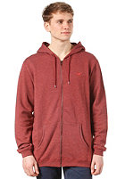 CLEPTOMANICX Ligull 3000 Hooded Zip Sweat heather dried tomato