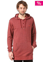 CLEPTOMANICX Ligull Henley Hooded Sweat heather dried tomato