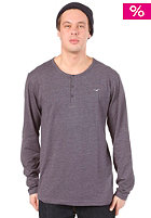 CLEPTOMANICX Ligull Henley L/S Shirt heather dark navy