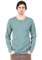 CLEPTOMANICX Ligull Henley L/S Shirt heather spruce green