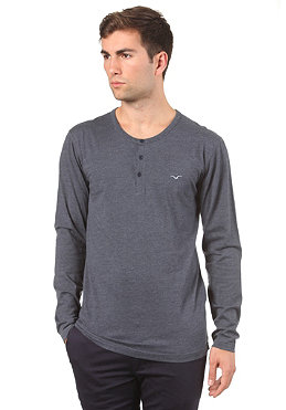 CLEPTOMANICX Ligull Henley L/S T-Shirt heather dark navy