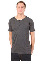CLEPTOMANICX Ligull Henley S/S T-Shirt heather black