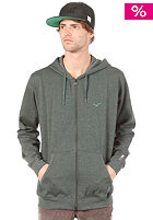 CLEPTOMANICX Ligull Hooded Zip Sweat heather black forest