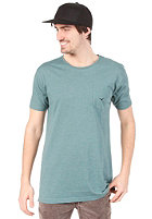 CLEPTOMANICX Ligull Long S/S T-Shirt heather spruce green
