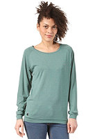 CLEPTOMANICX Lodato Melange L/S Shirt heather spruce green