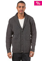 CLEPTOMANICX Logo Cardigan Jacket heather dark grey