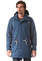 CLEPTOMANICX Long Parka Jacket petrol blue