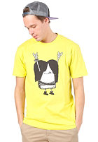 CLEPTOMANICX Metal Toast Basic S/S T-Shirt acid yellow