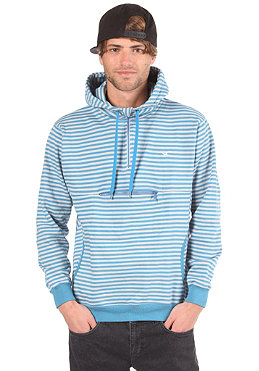 CLEPTOMANICX Ministripe Hooded Sweat port blue