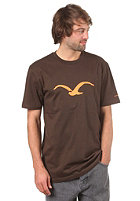 CLEPTOMANICX Moewe S/S T-Shirt brown/orange