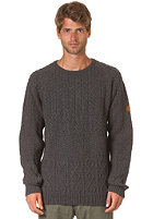 CLEPTOMANICX Mork Knit Sweat heather dark gray