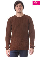 CLEPTOMANICX Mork Knit Sweat hot chocolate