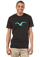 CLEPTOMANICX Mowe Basic S/S T-Shirt black/turquoise