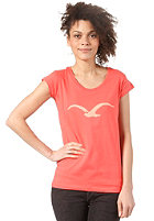 CLEPTOMANICX Mowe Scoop S/S T-Shirt hot coral