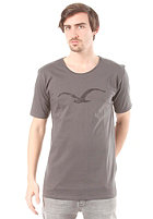 CLEPTOMANICX Mowe Scrible Scoop S/S T-Shirt dark gray