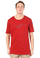 CLEPTOMANICX Mowe Scrible Scoop S/S T-Shirt dried tomato
