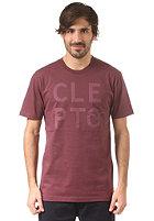 CLEPTOMANICX Mowe Type S/S T-Shirt burgundy