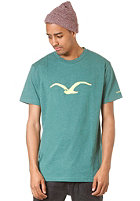 CLEPTOMANICX M�we S/S T-Shirt heather alpine green