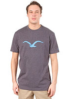 CLEPTOMANICX M�we S/S T-Shirt heather dark navy