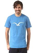 CLEPTOMANICX M�we S/S T-Shirt heather drive blue
