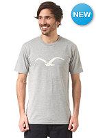 CLEPTOMANICX M�we S/S T-Shirt heather gray / solar power