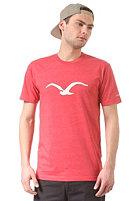 CLEPTOMANICX M�we S/S T-Shirt heather true red
