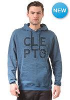 CLEPTOMANICX M�we Type Hooded Sweat petrol blue