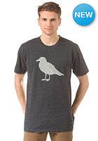 CLEPTOMANICX OP Gull S/S T-Shirt heather black