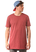 CLEPTOMANICX Patch Long S/S T-Shirt heather dried tomato