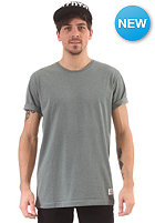 CLEPTOMANICX Patch Scoop S/S T-Shirt heather olive green