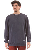 CLEPTOMANICX Patch Sweatshirt heather dark navy