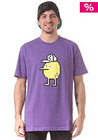 CLEPTOMANICX Pixel Zitrone S/S T-Shirt heather purple