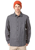 CLEPTOMANICX Plain Linen L/S Shirt periscope gray