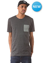 CLEPTOMANICX Pocket S/S T-Shirt heather black/olive