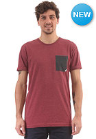 CLEPTOMANICX Pocket S/S T-Shirt heather rhabarber