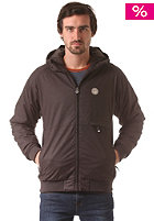 CLEPTOMANICX Polarzipper Hemp Jacket dark brown