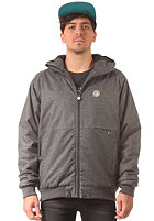 CLEPTOMANICX Polarzipper Hemp Jacket heather dark gray