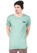 CLEPTOMANICX Rissen S/S T-Shirt spruce green