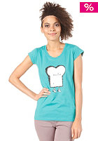 CLEPTOMANICX Scoop Toast S/S T-Shirt turquoise