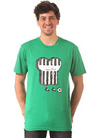 CLEPTOMANICX St. Pauli Toast S/S T-Shirt jolly green