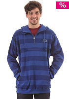 CLEPTOMANICX Stripe 2.0 Hooded Sweat soda blue