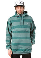 CLEPTOMANICX Stripe Hooded Sweat spruce green