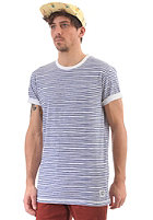 CLEPTOMANICX Stripe S/S T-Shirt white