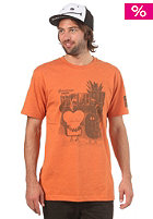 CLEPTOMANICX Toast Hawaii S/S T-Shirt heather orange  
