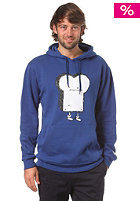 CLEPTOMANICX Toast Hooded Sweat soda blue
