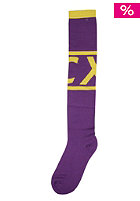 CLEPTOMANICX Tube Socks purple