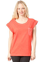 CLEPTOMANICX Voyage 2 S/S T-Shirt hot coral