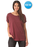CLEPTOMANICX Womens Bill S/S T-Shirt burgundy