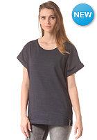 CLEPTOMANICX Womens Bill Stripe S/S T-Shirt heather dark navy